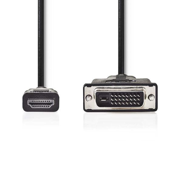 NEDIS  HDMI™ - DVI Cable | HDMI™ Connector - DVI-D 24+1-Pin Male | 5.0 m | Black