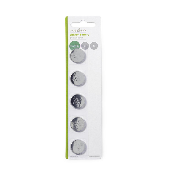 NEDIS  Lithium Button Cell Battery CR2032 3 V / CMOS BATTERY 5 PACK