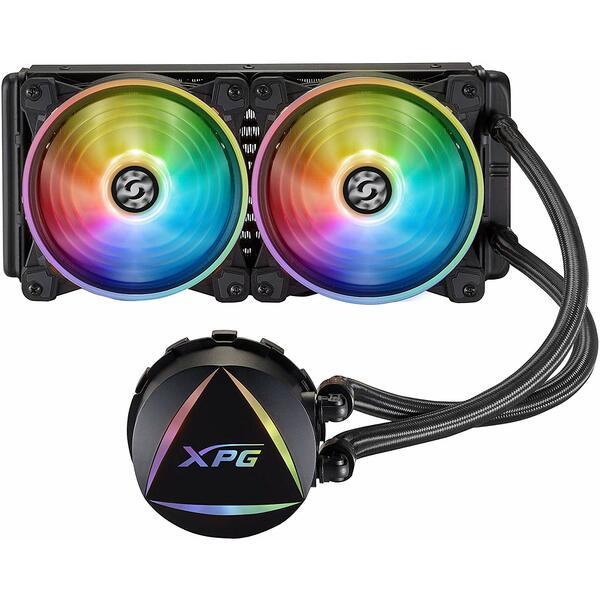 XPG LEVANTE240-BKCWW Levante 240 ARGB Liquid CPU Cooler, 2 x 12cm ARGB PWM Fans - special Offer