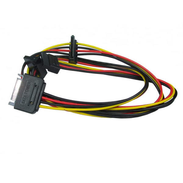 Generic  85cm SATA 3 Internal Data Cable Power Splitter 1 to 3