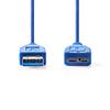 NEDIS  USB 3.0 Cable A Male - Micro B Male Round 0.5 m Blue Image
