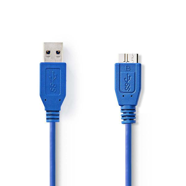 NEDIS  USB 3.0 Cable A Male - Micro B Male Round 0.5 m Blue