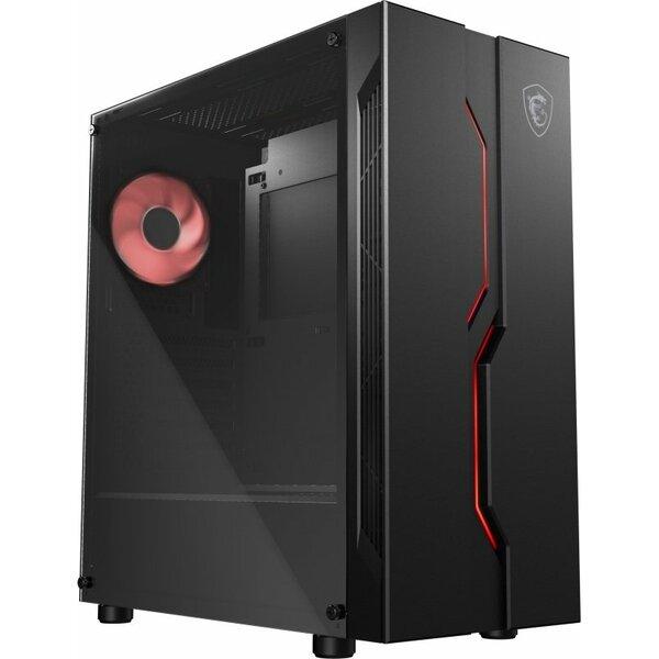 MSI  MAG VAMPIRIC 010 Mid Tower Gaming Computer Case - Black 1x RGB Fan