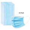 Generic PPE10PM 10 Pack Disposable 3 ply Face Mask Image