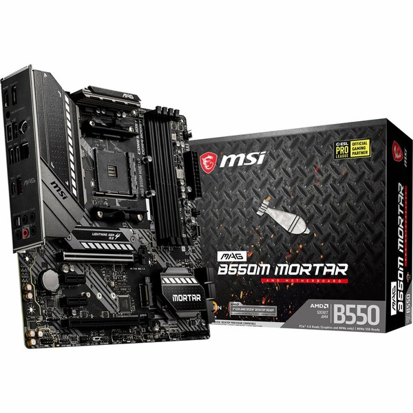 MSI MAG B550M MORTAR  AMD Socket AM4 Micro ATX Motherboard - This board will be Flashed to latest Bios revision on site before despatch