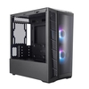 Coolermaster  MasterBox MB320L ARGB Micro Tower. Edge-to-Edge Tempered Glass Side, Addressable RGB LED Fans Image