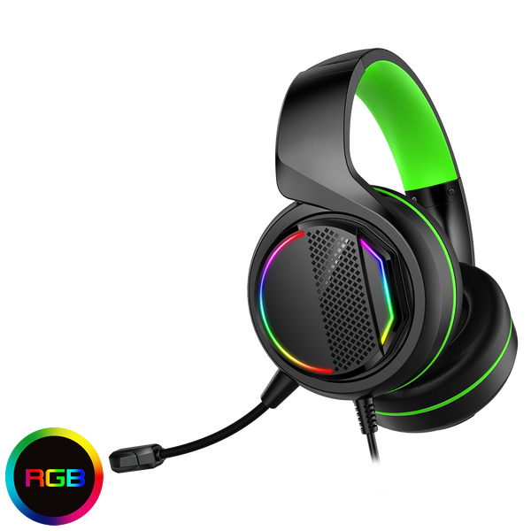 GameMax  Razor RGB Gaming Headset and Mic with 5.1 Surround Sound 3.5MM JACK + USB for RGB Lights