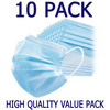 Generic  10 Pack Value Disposable 3 ply Face Mask Image
