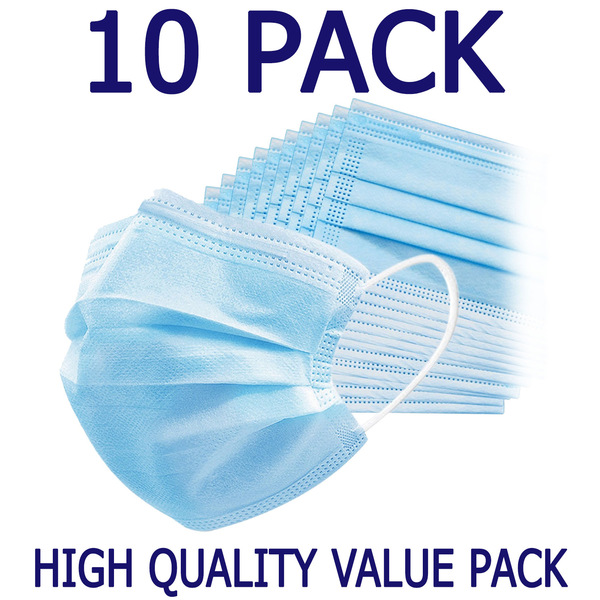 Generic  10 Pack Value Disposable 3 ply Face Mask