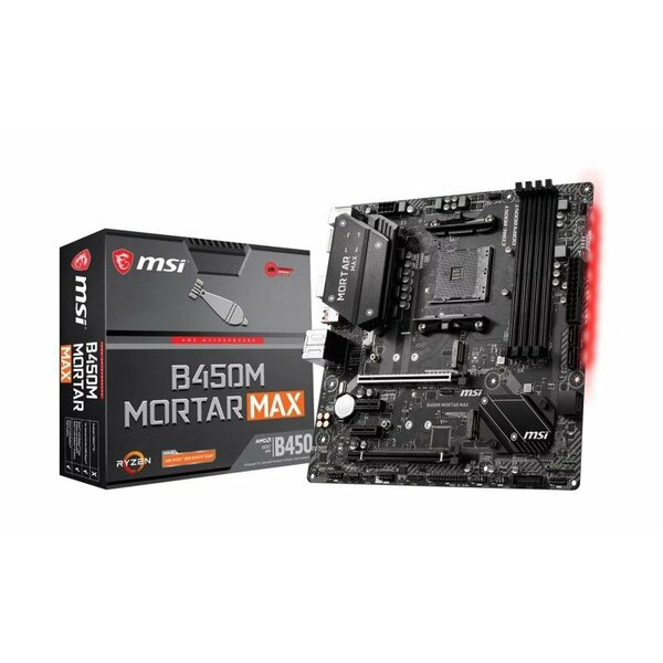MSI - B450M MORTAR MAX  AMD Socket AM4 Micro ATX Motherboard - Special Offer