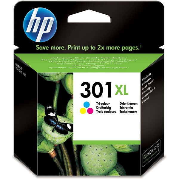 HP  Hp 301XL - Print Cartridge - 1 X Tri Colour - 330 Page Yeild