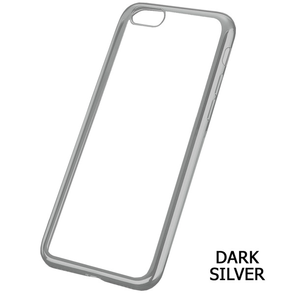Amb Walk N Talk  Iphone 7 Case - Clear with accent colour - Dark Silver