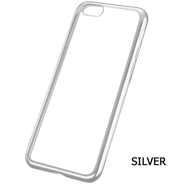 Amb Walk N Talk  Iphone 7 Case - Clear with accent colour - Silver