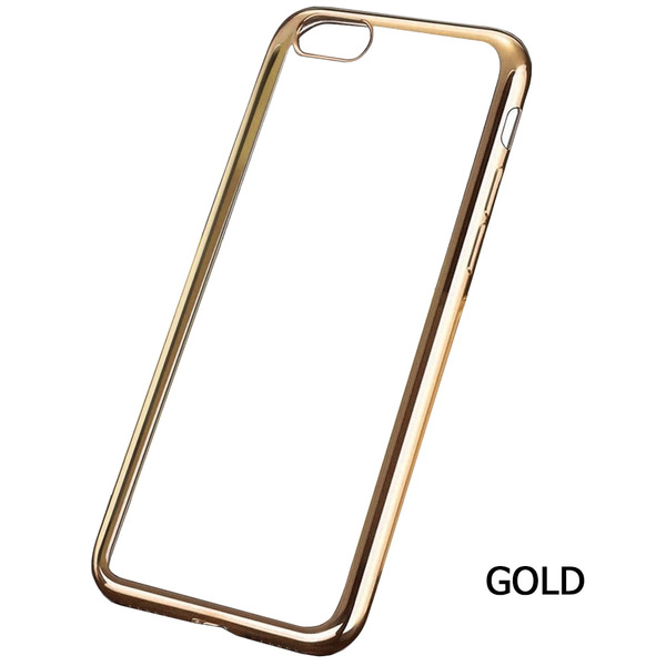 Amb Walk N Talk  Iphone 7 Case - Clear with accent colour - Gold