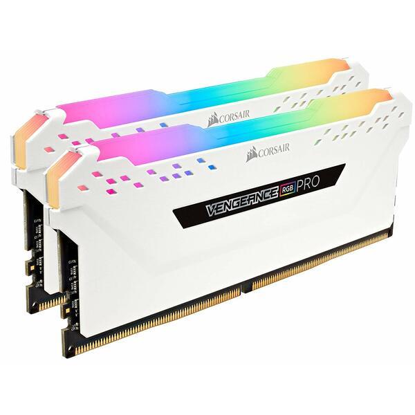Corsair CMW16GX4M2C3600C18W Vengeance RGB Pro 16GB Memory Kit (2 x 8GB), DDR4, 3600MHz (PC4-28800), White