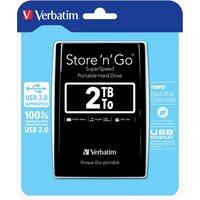 Verbatim  2TB Store `n` Go USB 3.0 2.5 Inch External Hard Drive - Black