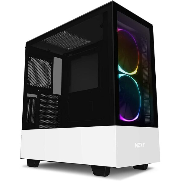 NZXT  H510 Elite - Premium Mid-Tower ATX Case PC Gaming Case - White Edition
