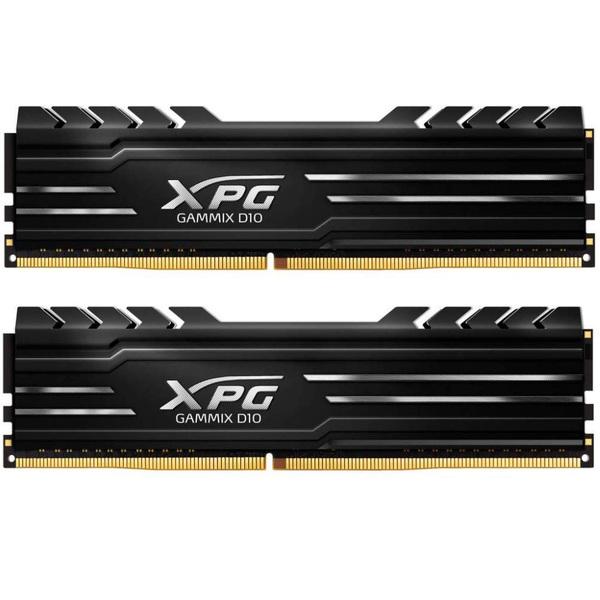 XPG  GAMMIX D10 Black, 16GB, DDR4, 3600MHz, CL18, XMP 2.0, DIMM Memory, Low Profi