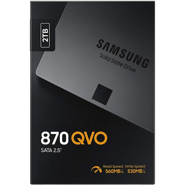 Samsung MZ-77Q2T0BW 2TB 870 QVO SATA III 2.5 inch SSD Samsung V-Nand upto 560mbps read - Special Offer