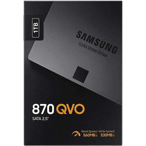 Samsung  1TB 870 QVO SATA III 2.5 inch SSD Samsung V-Nand upto 550mbps read