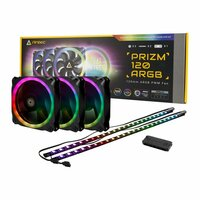 ANTEC PRIZM120 ARGB 3+2+C 3 in 1 pack with 3x 120mm Fan 1x fan controller + 2x ARGB LED Strips