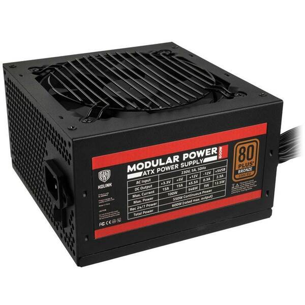 Kolink  600W 80 Plus Bronze Semi Modular Power Supply