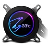 Gigabyte GP-ALQCO280 AORUS 280mm LCD ARGB Intel/AMD CPU Liquid Cooler - Special Offer Image