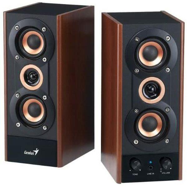 Genius SP-HF180 speaker kit - Wooden - USB Powered