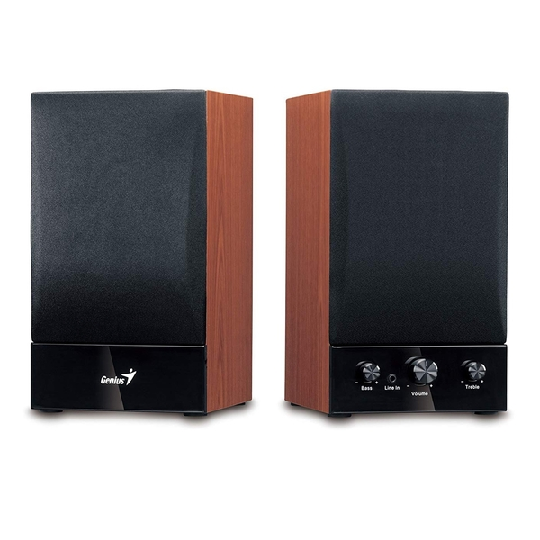 Genius  Wooden Hi-Fi Stereo Speakers