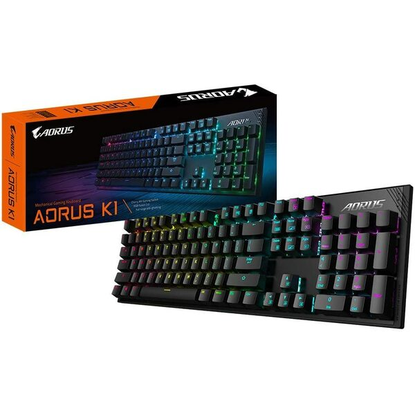 Gigabyte  AORUS K1 Gaming Keyboard with Cherry RED MX Mechanical Gaming Switch