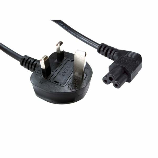Generic  1.8MTR UK 5 AMP TO RIGHT ANGLED Clover Leaf