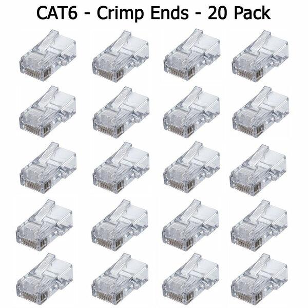 Generic  20 Pack Rj45 Plugs Cat6 - Crimp Connector