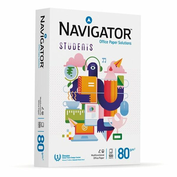 Navagator Students A4 80GSM Multifunctional Paper A4   - 500 sheets - 1 Ream