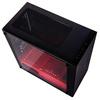 Tecware  Nexus M - Mini Tower Black / Red - TG Side Pannel Image