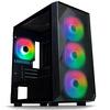 Tecware  FORGE M ARGB - MICRO ATX Tower Black - TG Side Pannel - 4 x ARGB FANS Image