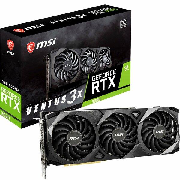 MSI  Geforce RTX 3090 VENTUS 3X OC 24GB GDDR6x Graphics Card *** Maximum one card per household ***