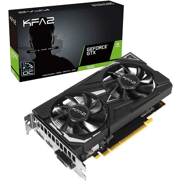 KFA2  Geforce 1650 EX 1-Click OC PLUS DDR6 PCI-Express Graphics Card - Maximum 1 card per customer / House hold