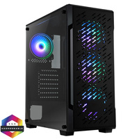 CIT  CiT Crossfire Gaming Case 4x ARGB Fans TG Side Panel