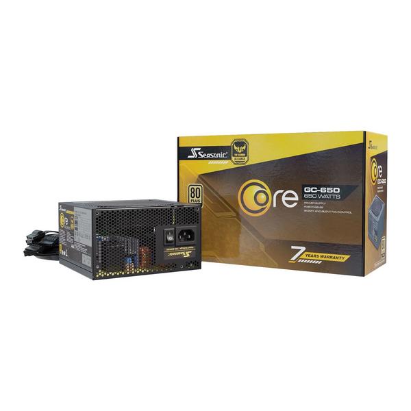 Seasonic  Core Gold GC 650 650W 80+ Gold PSU/Power Supply