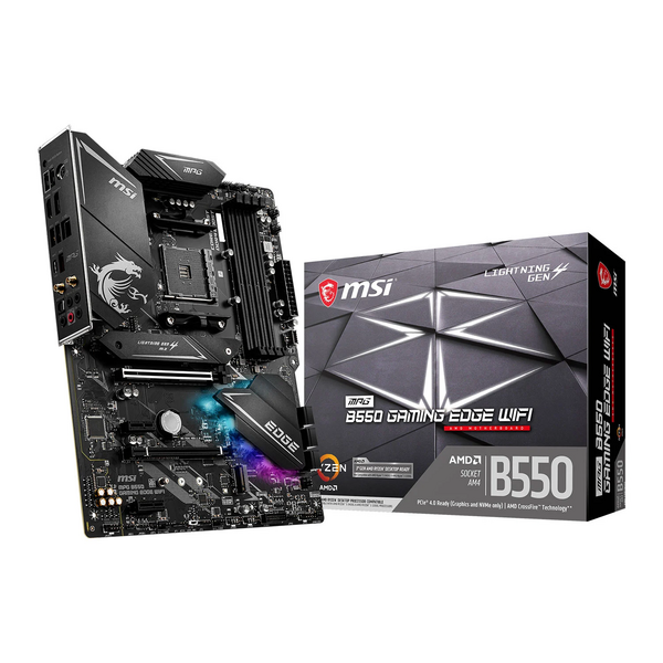 MSI  MAG B550 B550 GAMING EDGE WIFI AMD Socket AM4 - This board will be Flashed to latest Bios revision on site before despatch