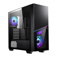 MSI  MPG SEKIRA 100R Black Mid Tower Tempered Glass RGB PC Gaming Case