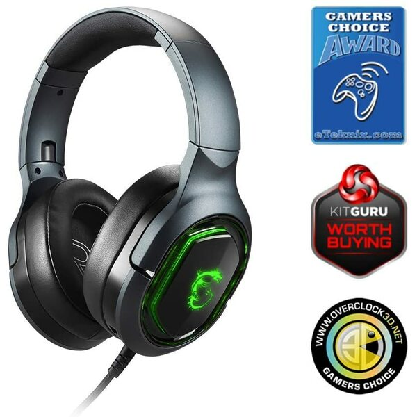 MSI  IMMERSE GH50 7.1 Virtual Surround Sound RGB Gaming Headset