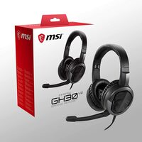 MSI Imerse G30 v2 Foldable Lightweight headset with detachable mic, 40mm controllers, 4 pole and 3.5mm splitter included