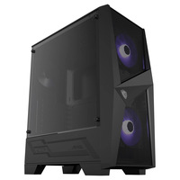 MSI  MAG FORGE M Tempered Glass RGB PC Gaming Case With Hub