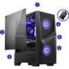 MSI  MAG FORGE M Tempered Glass RGB PC Gaming Case With Hub Image