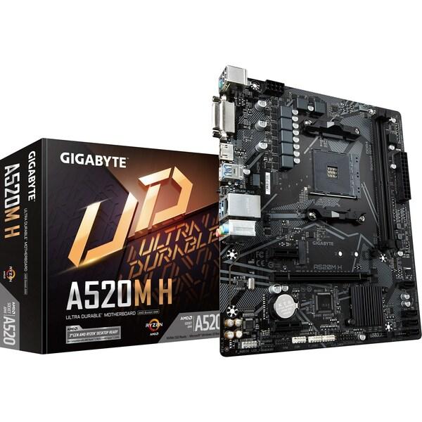 Gigabyte  AMD A520 (Socket AM4) RYZEN DDR4 Micro ATX Motherboard