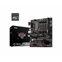 MSI  B550M Pro AMD Socket AM4 Micro-ATX Motherboard