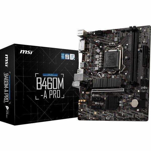 MSI  Intel B460M A PRO Intel Socket 1200 Micro ATX Motherboard