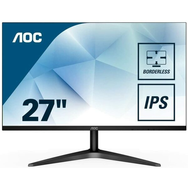 Aoc 27B1H 27` Widescreen IPS LED Black Monitor 1080p 1920x1080  VGA / HDMI - Borderless on 3 sides