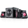 Genius  2.1 1250 Black & Gold Gaming Speaker System Image